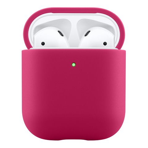 Чехол AIRPODS Silicone Case Red