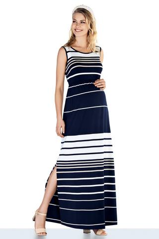 Платье для беременных 10217 синий