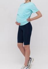 Велосипедки для беременных цвет синий