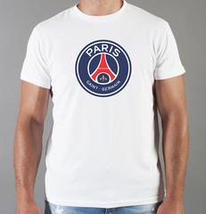 Футболка с принтом FC Paris Saint-Germain (ФК Пари Сен-Жермен) белая 007