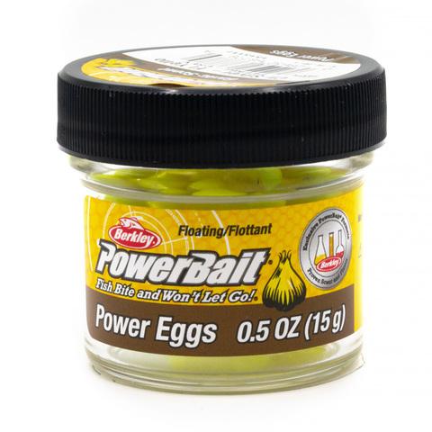 Приманка силиконовая Berkley Powerbait Floating Eggs Garlic Fluo Yellow (1313117) Имитация икры плавающая