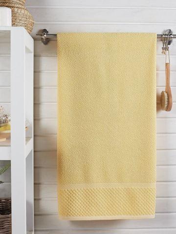 Полотенце DO&CO махровое жаккард 70х140 см SEVAKIN цвет желтый