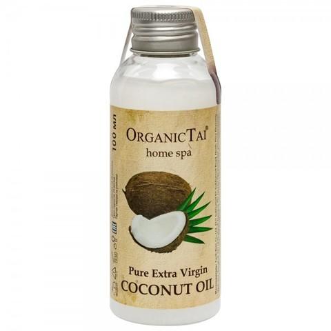 Organic Thai Чистое кокосовое масло  холодного отжима для тела и волос, 10мл0б