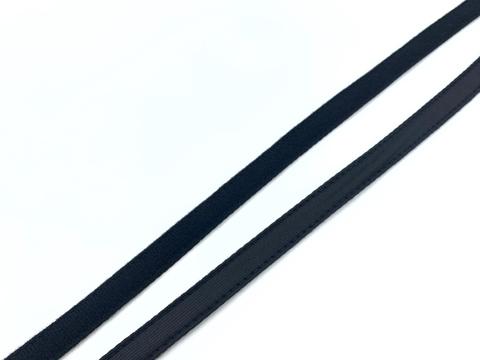 Ворсовая тесьма для корсетных пластин черная 50 метров