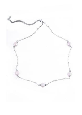 Ожерелье Aurora Rotondo серебристое
