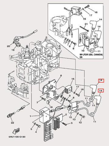 Колпачок свечной для лодочного мотора F9,9 Sea-PRO (12-14)