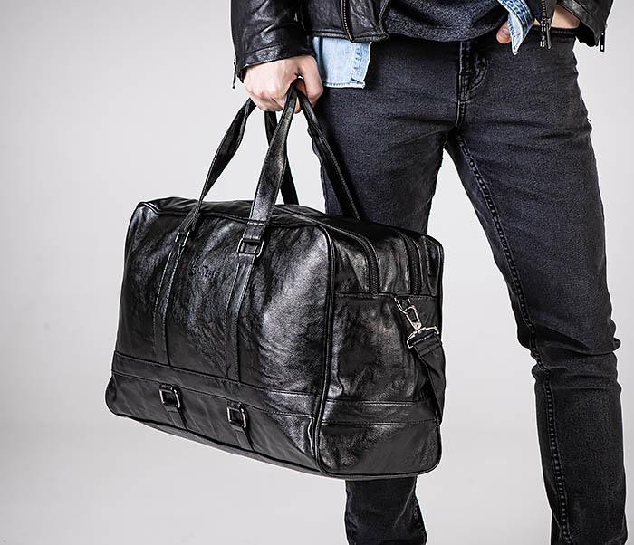 BAG549 Большая дорожная сумка из кожи фото 03
