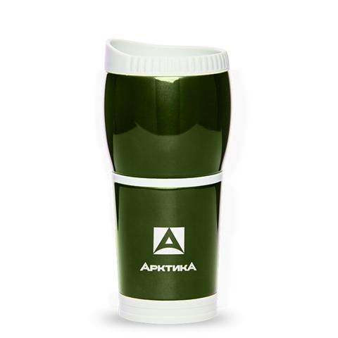 Термокружка Арктика (807-400 болотная без ручки) 0,4 литра без ручки, болотная