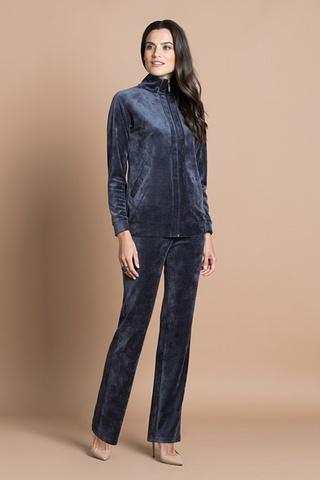 Куртка велюровая тёмно-сиреневый (20311-1-V) Laete