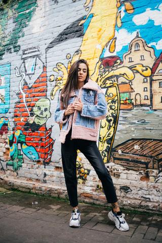 Утепленная джинсовая куртка с мехом недорого