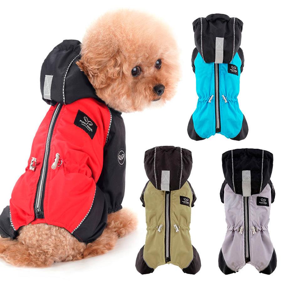 523 PA Комбинезоны-дождевики для собак на флисе для мальчиков