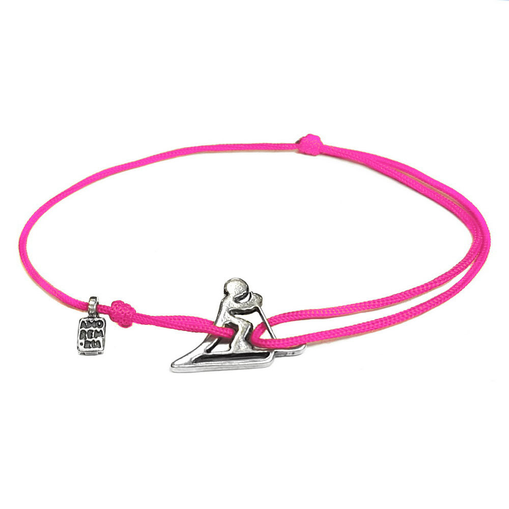 Skier Bracelet, sterling silver