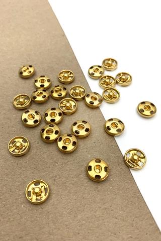 Кнопка,металл,золото, 10 мм