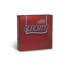 Салфетки бумажные Aster Creative 33x33 см бордовые 3-слойные 20 штук в упаковке