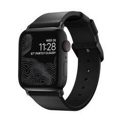 Ремешок Nomad Modern Slim Leather Apple Watch 40/38mm черный/черный