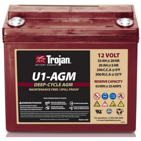 Аккумулятор тяговый Trojan U1