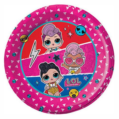 Тарелки малые куклы ЛОЛ диско, 6 штук