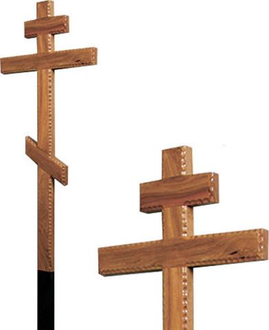 Крест дубовый резной 7 см без надписи