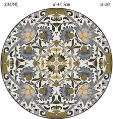 Эскиз для росписи, Круг диаметр-47,5см, SMAR-st-20