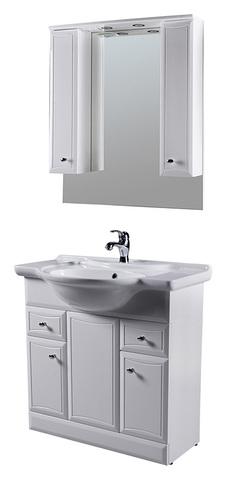 Комплект мебели AM-PM BORGEOIS - 85 (тумба напольная, раковина, зеркальный шкафчик)