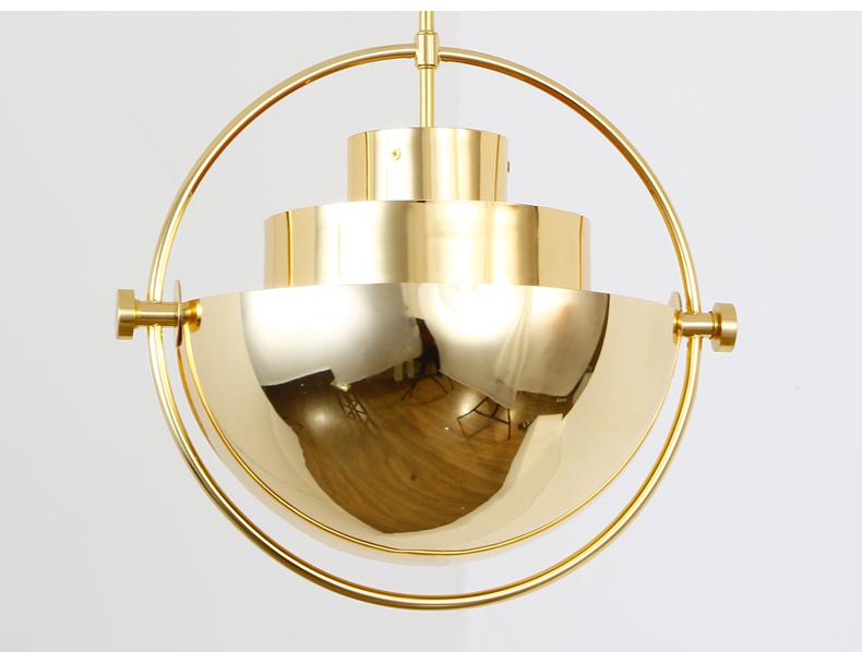 Подвесной светильник копия Multi-Lite by Gubi (золотой)