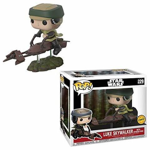Фигурка Funko POP! Deluxe Vinyl: Star Wars: Speeder Bike w/ Leia 23253 CHASE (Luke)