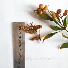 Застежка для сумки и украшения на металлических усиках(насекомые), под медь