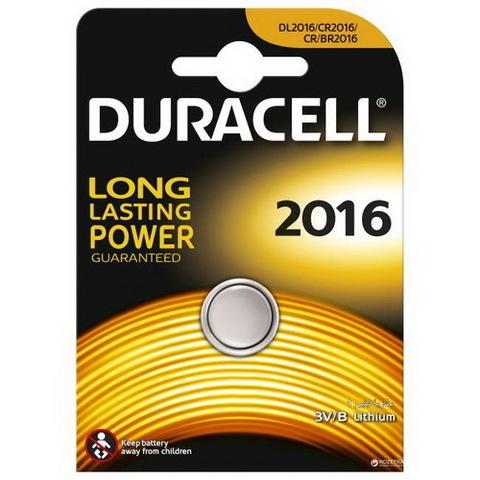 Батарейки Duracell CR 2016, 3V (1/10) BL