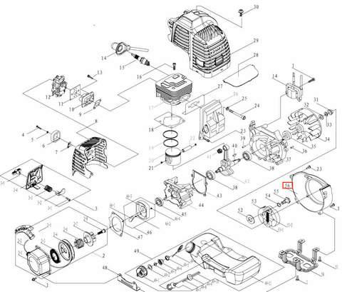 Крышка маховика для лодочного мотора T3,5 Sea-PRO