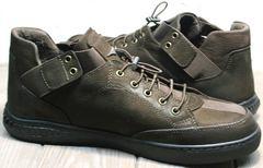 Сникерсы без шнурков мужские демисезонные Luciano Bellini 71748 Brown