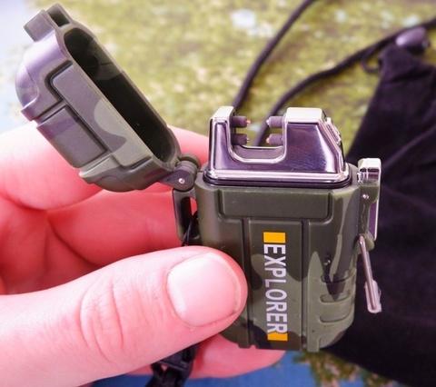 Зажигалка электроимпульсная USB  Explorer