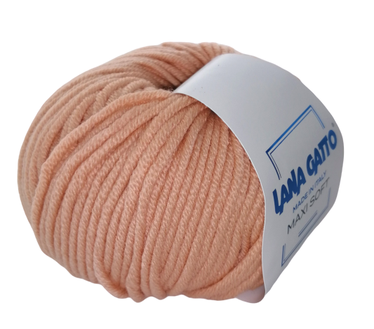 Пряжа Lana Gatto Maxi Soft 8965 персик