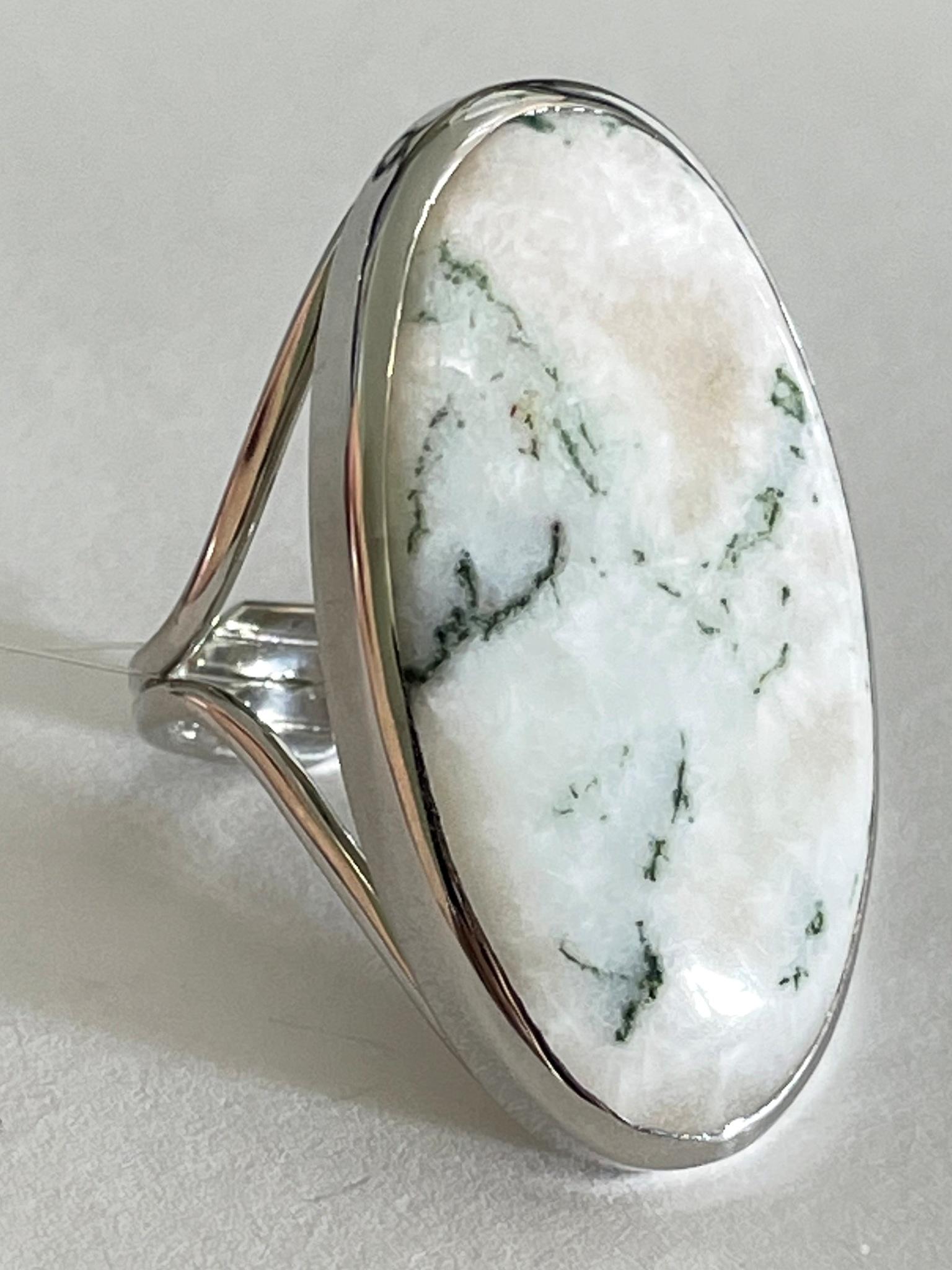 Агат  (кольцо из серебра)