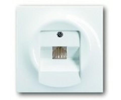 Розетка телефонная одинарная TF. Цвет Альпийский белый. ABB impuls. 0230-0-0378+1753-0-8964