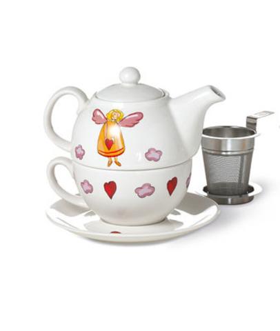 Веселый ангел чайник/чашка/блюдце