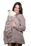 Слингокуртка для беременных 00901 серый