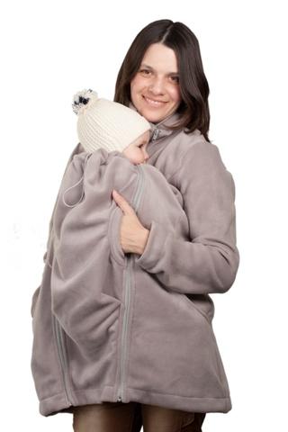 Слингокуртка для беременных 00901 темно-серый