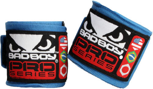 Капы и бинты Бинты Bad Boy Hand Wraps 3.5 м Stretch - Blue 1.jpg