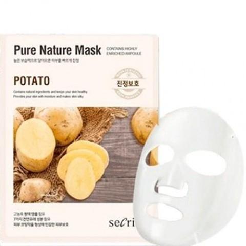 Anskin Маска для лица тканевая с картофелем Secriss Pure Nature Mask Pack, 1 шт