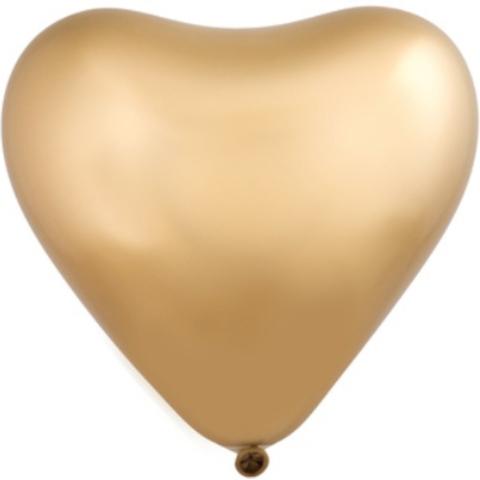 Сердце Хром Сатин Gold 12