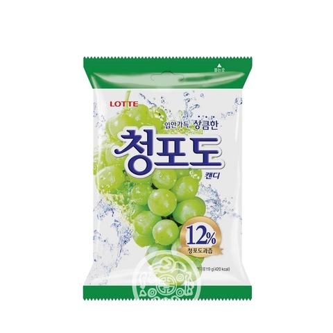 Карамель леденцовая Green Grape Candy  153г Lotte Корея