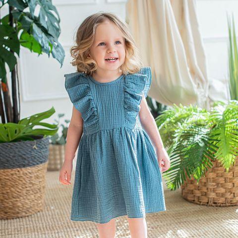 Платье муслиновое с крылышками