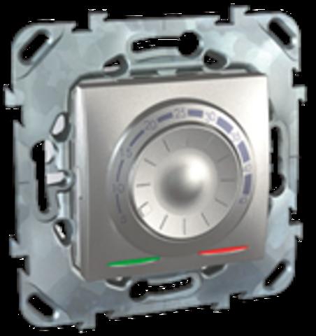 Терморегулятор теплого пола. Цвет Алюминий. Schneider electric Unica Top. MGU5.503.30ZD