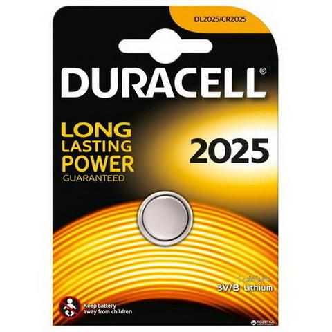 Батарейки Duracell CR 2025, 3V (1/10) BL