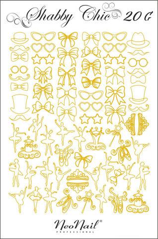 Трафарет для дизайна Shabby Chic 20 чёрный