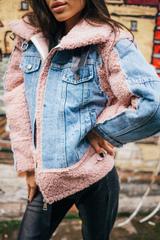 Утепленная джинсовая куртка с мехом Nadya
