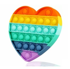 Поп Ит Игрушка антистресс Вечная пупырка Сердце Попит 14 х 12 х 1,7 см разноцветная с английским алфавитом POP IT