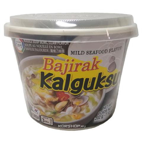Суп с лапшой со вкусом моллюсков и мидий BAJIRAK KALGUKSU, 202 г