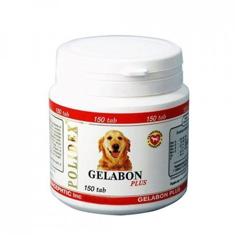 Полидэкс Гелабон плюс для собак   150 таб.