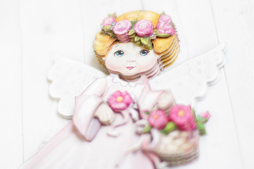Ангел в розовом готовая работа